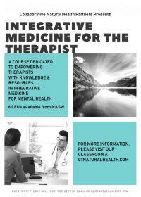 Integrative medicine for the therapist ONLINE FLYER